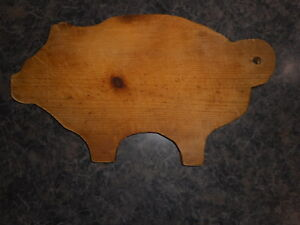 Farmhouse Primitive Wood Pig Handmade Vintage Cutting Board Wall Decor Kitschy