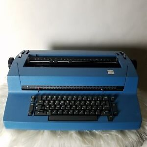 Vintage Ibm Selectric Ii 893 Correcting Typewriter Blue Tested Minty Electric