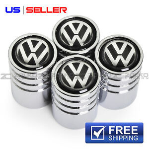 Valve Stem Caps Wheel Tire Chrome For Volkswagen Ve39 Us Seller