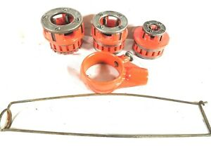 Ridgid Model 12 r Rachet Pipe Threader 3 Die s Carrier