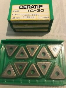Ceratip Ceramic Inserts Tc 30 Tnmg 436c Qty 10 New