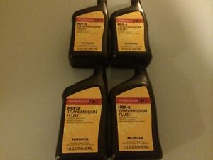 4 Quarts Case Genuine Honda Hcf 2 Cvt Trans Transmission Fluid 08200 hcf2