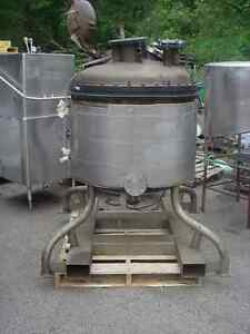 100 Gallon Stainless Steel Jacketed Lined Reactor 15 Psi 100 Psi Roben On Sale