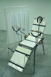 Medical Restraining Chair Table Vintage Operating Tattoo Saloon Restraints