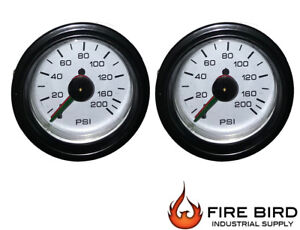 Air Gauge Dual Needle 200psi Air Ride Suspension System 2 White Xtra For Tank