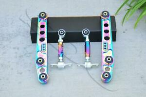 Neo Chrome Rear Lower Control Arm Rear Camber Kit For 92 95 Civic 94 01 Integra