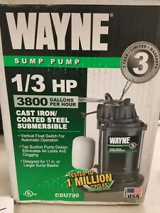 Wayne 1 3 Hp Cast Iron Submersible Sump Pump With Vertical Float Switch