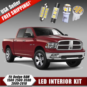 14pcs For 2009 2018 Dodge Ram 1500 2500 Led Interior Dome Map Light Package Kit