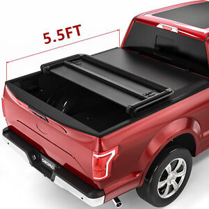 Yita Tri Fold Truck Bed Tonneau Cover Fit For 15 18 Ford F 150 Styleside 5 5ft
