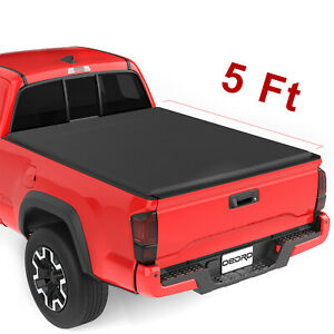Oedro 6 5ft Tri Fold Bed Tonneau Cover Fit For 14 18 Chevy Silverado Gmc Sierra
