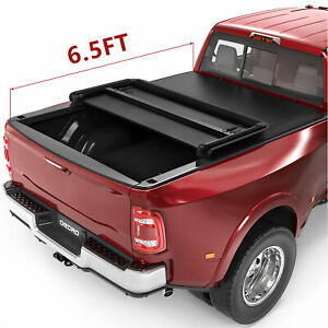 Oedro Fit For 2002 2019 Dodge Ram 1500 2500 3500 6 5 Bed Tri fold Tonneau Cover