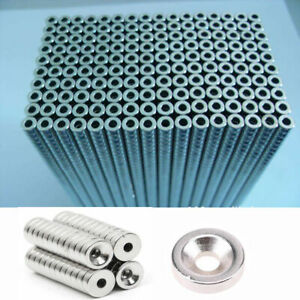 1 5 100pcs Ring Round Rare Earth Neodymium N52 n35 n50 Magnets With Hole