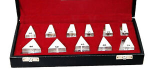 New Prism Bar Set Loose Set Of 11 Prisms For Ophthalmology Optometry Equipment