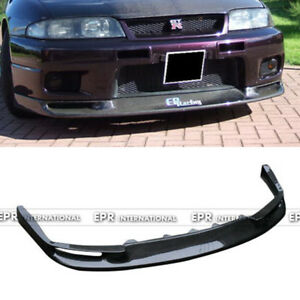 For Nissan Skyline R33 Gtr J style Carbon Fiber Front Bumper Bottom Lip Kit