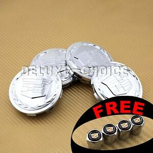 Set Of 4 Silver Car Alloy Rim Emblem Wheel Center Hub Cap Logo 3 25