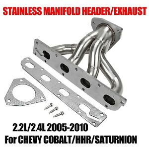 Fit 05 10 Chevy Cobalt hhr saturnion 2 2l 2 4l Stainless Manifold Header exhaust