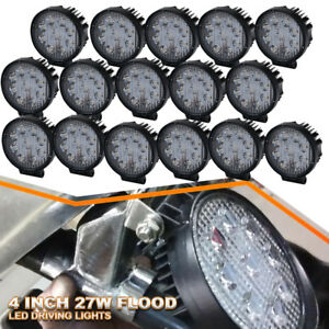 16x 4inch Car Light 9led Flood Fog Driving Daylight Daytime Running Utv Led Lamp