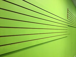 Set Of 10 Pieces Slatwall Easy Panels 2 H X 4 W Green Color