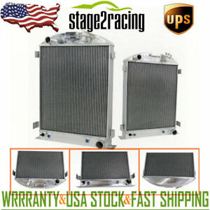 4 Row Aluminum Radiator For 1933 1934 Ford grill shells With Chevy V8 engine Top