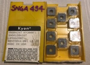 Kennametal Ceramic Inserts Snga434t Ky3000 Qty 10 New