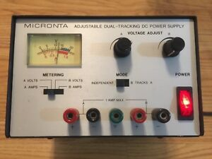 Dual Two channel Vintage Adjustable Bench Power Supply 0 15v 2x 1a