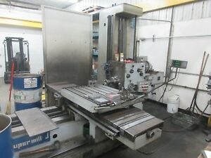 Used Horizontal Boring Mill Super Mill 3 Bar Manual Milling Machine