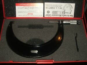 Nice Starrett 436 5 6 0001 Outside Micrometer W case