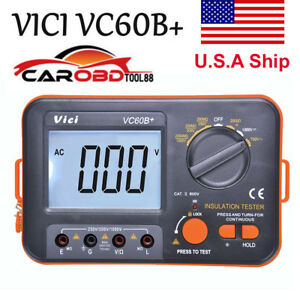Usa Ship Vc60b Digital Insulation Resistance Tester Megger Megohmmeter Meter