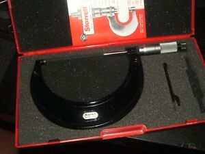 Nice Starrett 436 3 4 0001 Outside Micrometer W case
