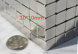 New 25 50 100 200 Magnets 5 10 X 5 10mm Cubes Strongest Possible N52 Neodymium