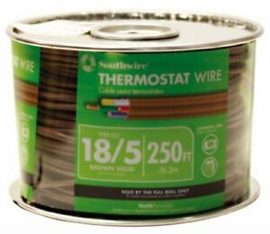 Southwire 64169644 18 5 250 feet 5 Conductor Thermostat Wire 18 gauge Solid