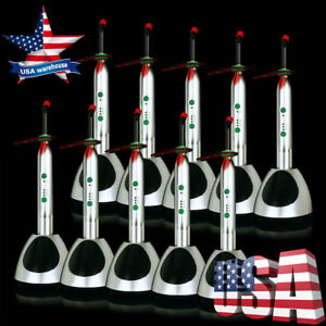 Usps 10x Dental Wireless Led Orthodontics Curing Light Metal Shell Rechargeable