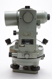 Geotec Vintage T 24 Surveying Transit Theodolite With Case Untested V673
