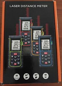 E 40 Digital Laser Distance Meter Range Finder Us New In Box