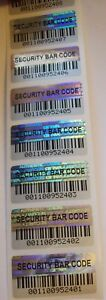 1000 Svag Sbc Security Barcode Hologram Security Label Seals 75 X 1 5