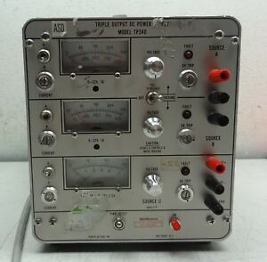 Power Designs Triple Output Dc Power Supply Model Tp340