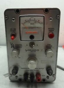 Power Designs Model 5015a Transistorized Power Supply 0 50 Vdc 0 1 5 A c