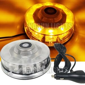 6 3 10 Led Emergency Beacon Lights Car Roof Top Warning Strobe Flash Lamp Amber