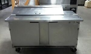 Used Beverage Air 60 Sp60 12c Refrigerated Sandwich Prep Table
