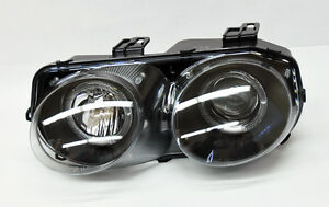 Black Projector Halo Angel Eyes Headlights For Acura Integra 98 01