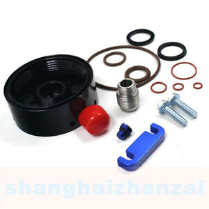 For Duramax Cat Fuel Filter Adapter Chevy 01 16 Spacer bleeder Screw seal Kit