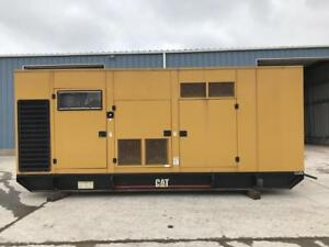 _600 Kw Cat Generator Set Sound Attenuated Base Fuel Tank 12 Lead Reconnec