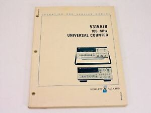 Hp 5315a b Operating Service Manual