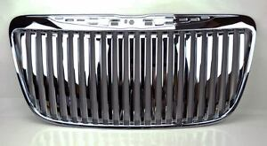 Chrome Vertical Style Front Center Grill Fits Chrysler 300 300c 2011 2014