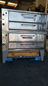 Bakers Pride 351 Double Stack Pizza Deck Oven Nat Gas W Stones Works Good