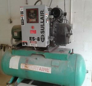 Used 15 Hp Es 8 Sullair Rotary Air Compressor 3 Phase