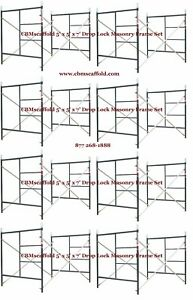 Cbm Scaffold 8 Set Of 5 X 6 4 X 7 Masonry Drop Lock Scaffold Frame Set