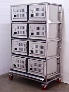 Lab Products Inc Modular Rabbit Small Animal Cage 8 Cages Stainless Steel
