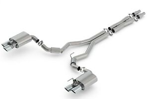 Borla 140742 S Type Cat Back Exhaust System Fits 18 Mustang