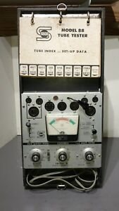 Vintage Seco Tube Tester Model 88 With Charts Cables